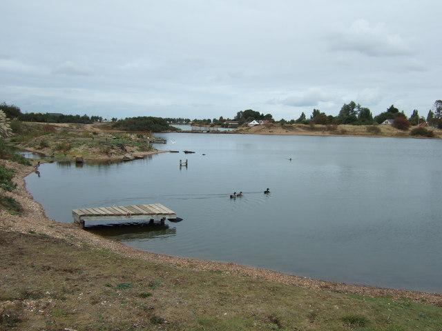 Ducks on the lake at Snettisham - geograph.org.uk - 1517939