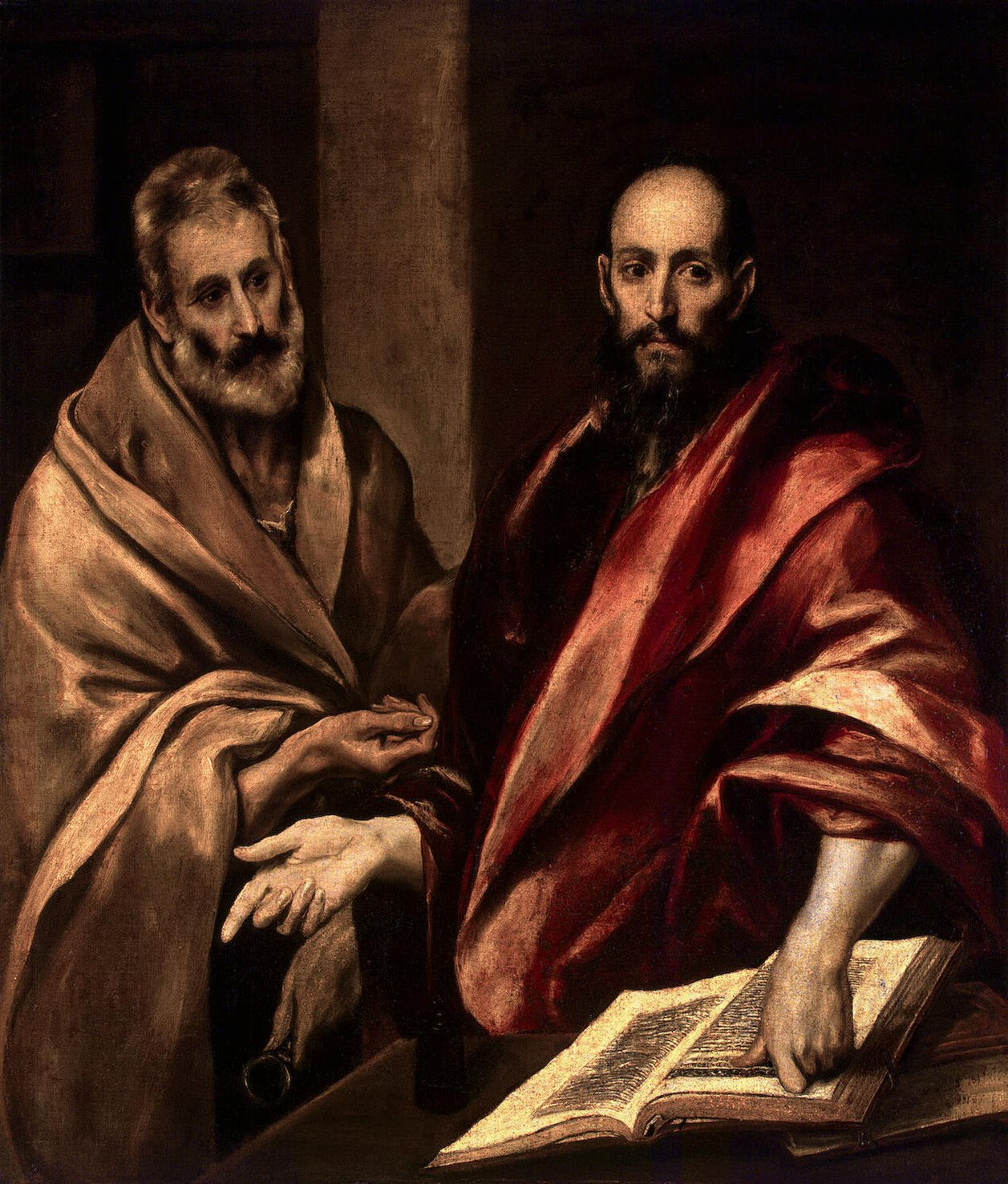 "The father of the Church and ""The"" Apostle: Saint Peter and Paul in a painting by 17th century painter El Greco"