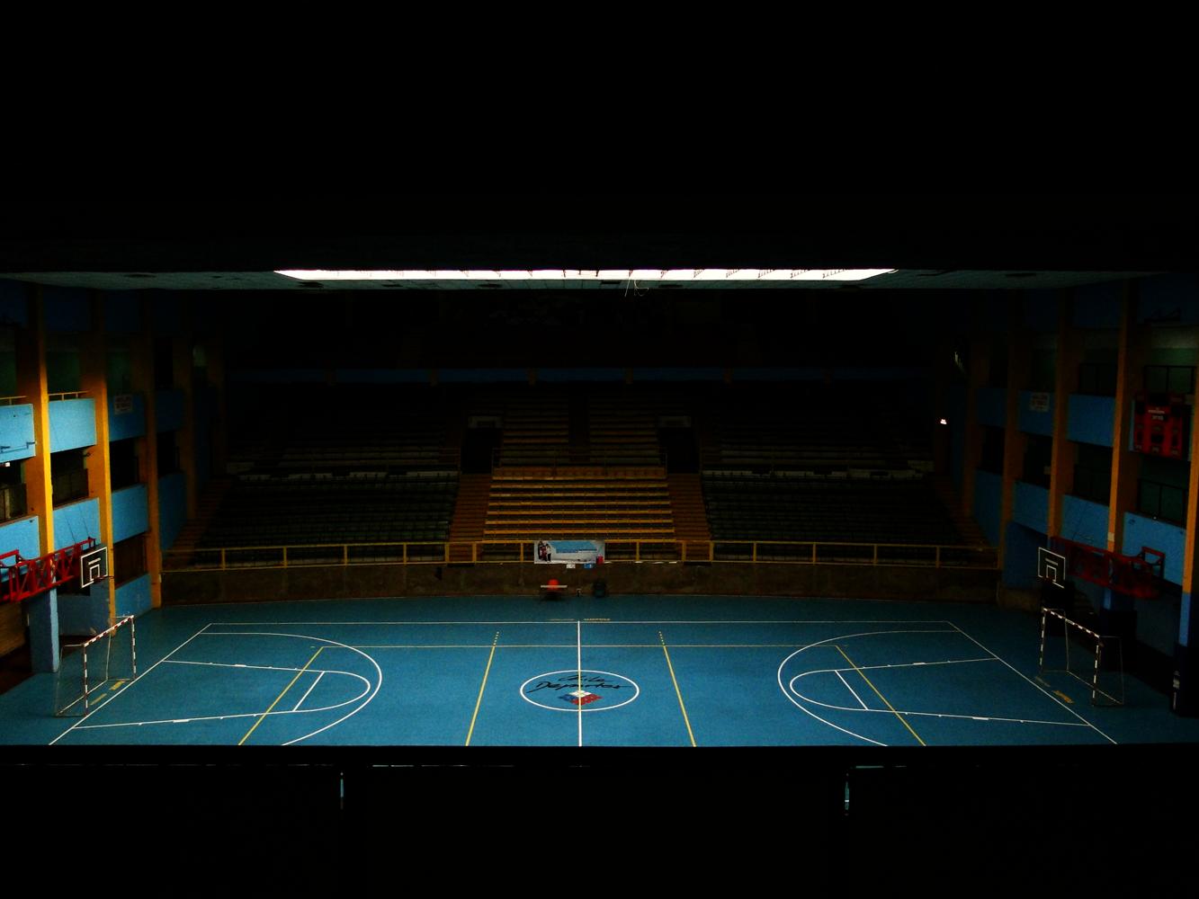 Vista del Estadio Víctor Jara en la actualidad, lugar donde fue asesinado el artista.