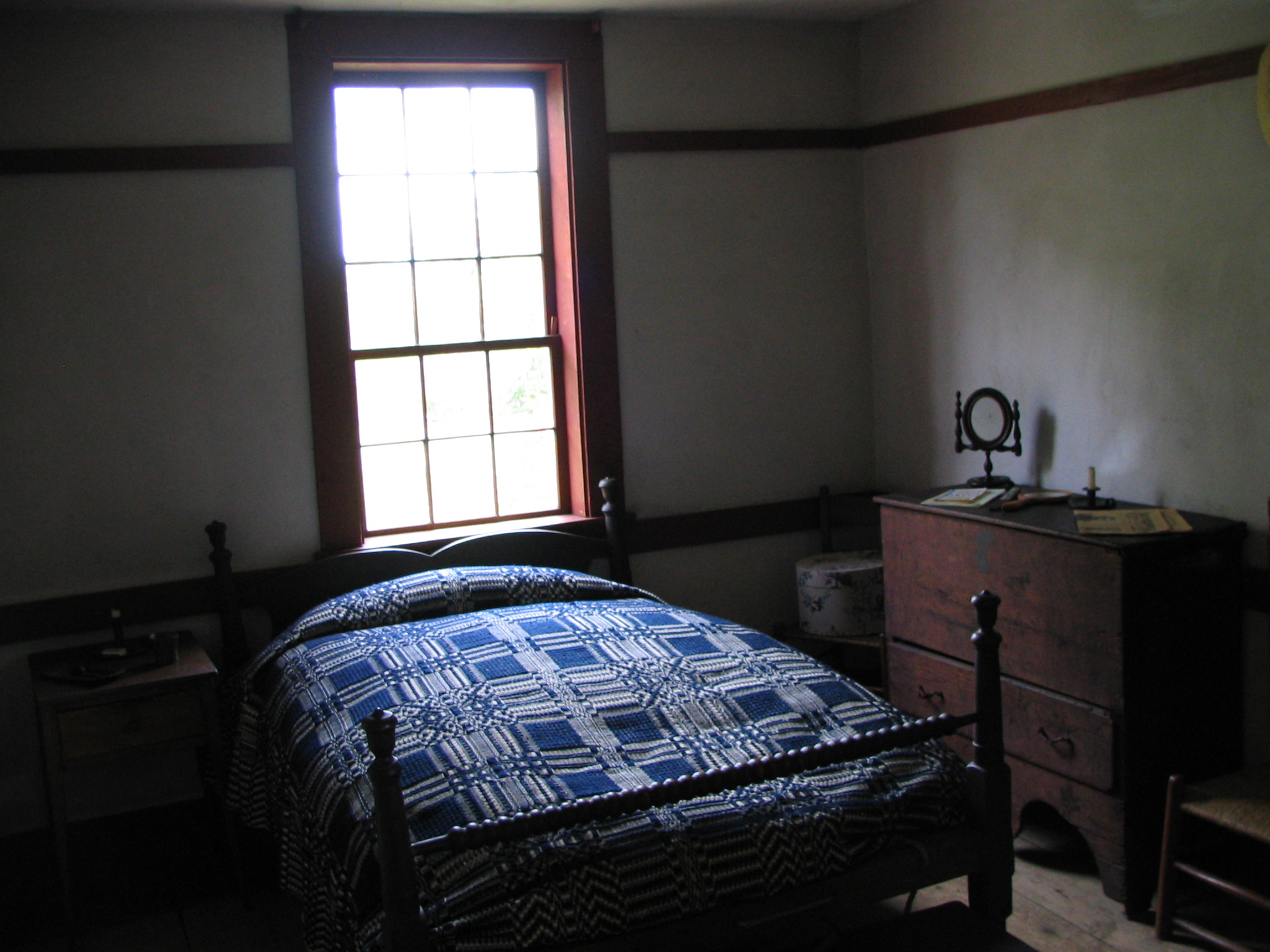 File first floor bedroom in john brown 39 s farm jpg wikimedia commons - Houses bedroom first floor fit needs ...