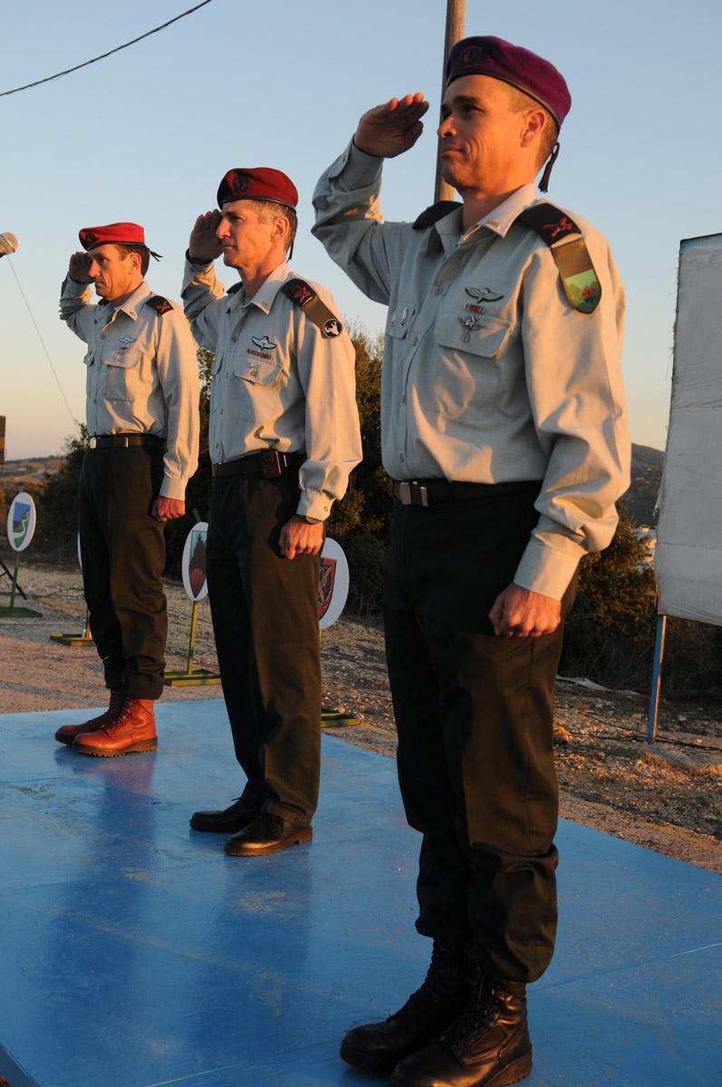 اثناء ترقيته لقائد شعبة الجليل، 2011
