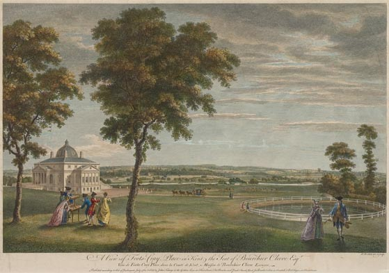 Foots Cray Place, 1760 engraving by [[William Woollett