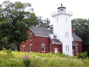 Forty Mile Point Light lighthouse in Michigan, United States