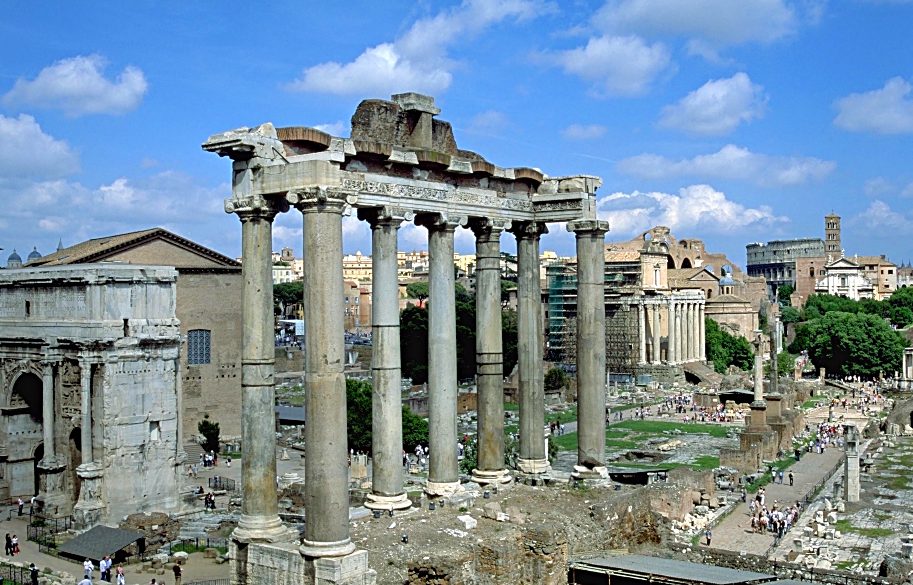 Fourth-century Temple of Saturn in the Roman Forum