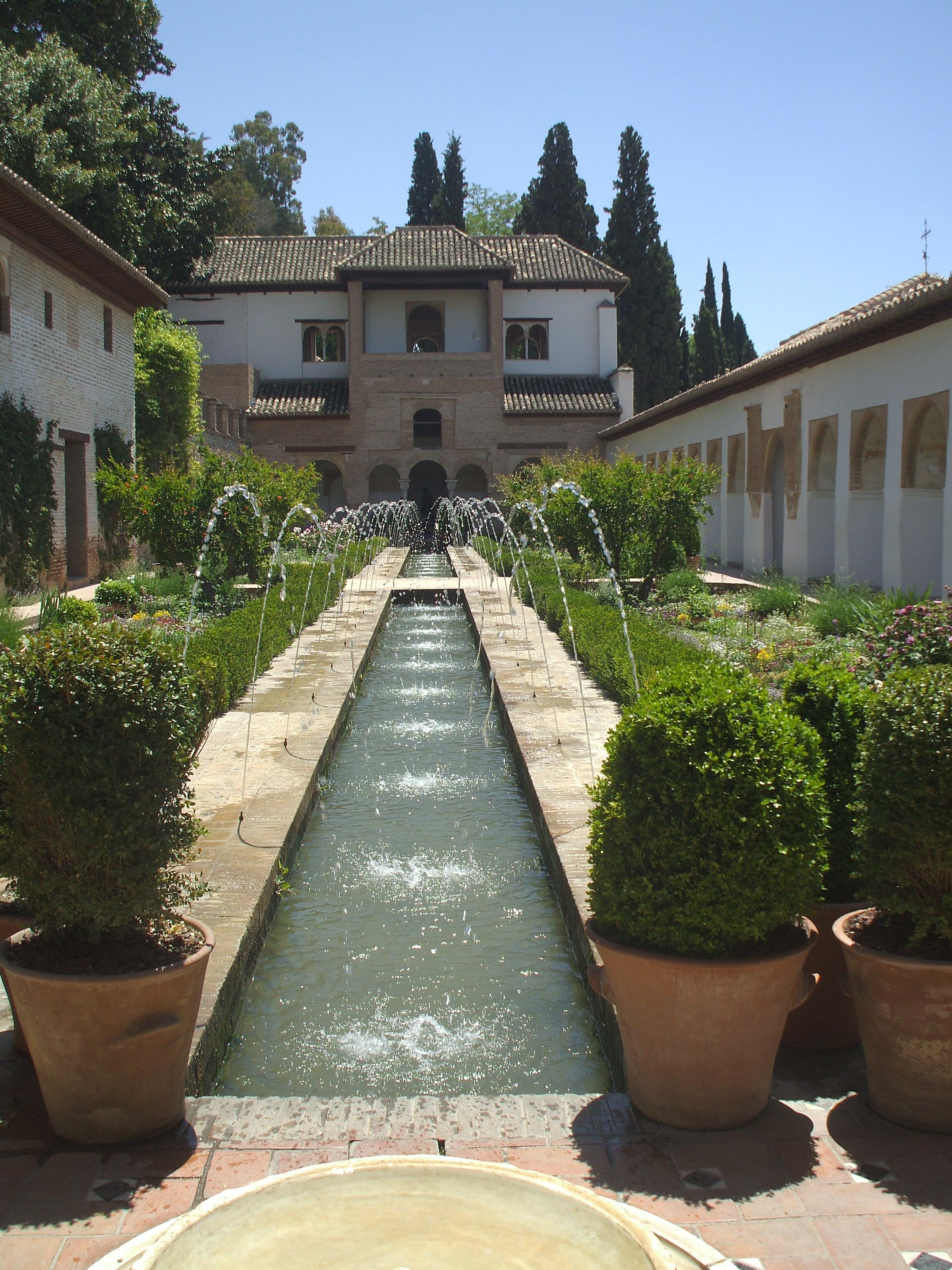 Archivo fuente en los jardines de la for Jardines de gomerez granada