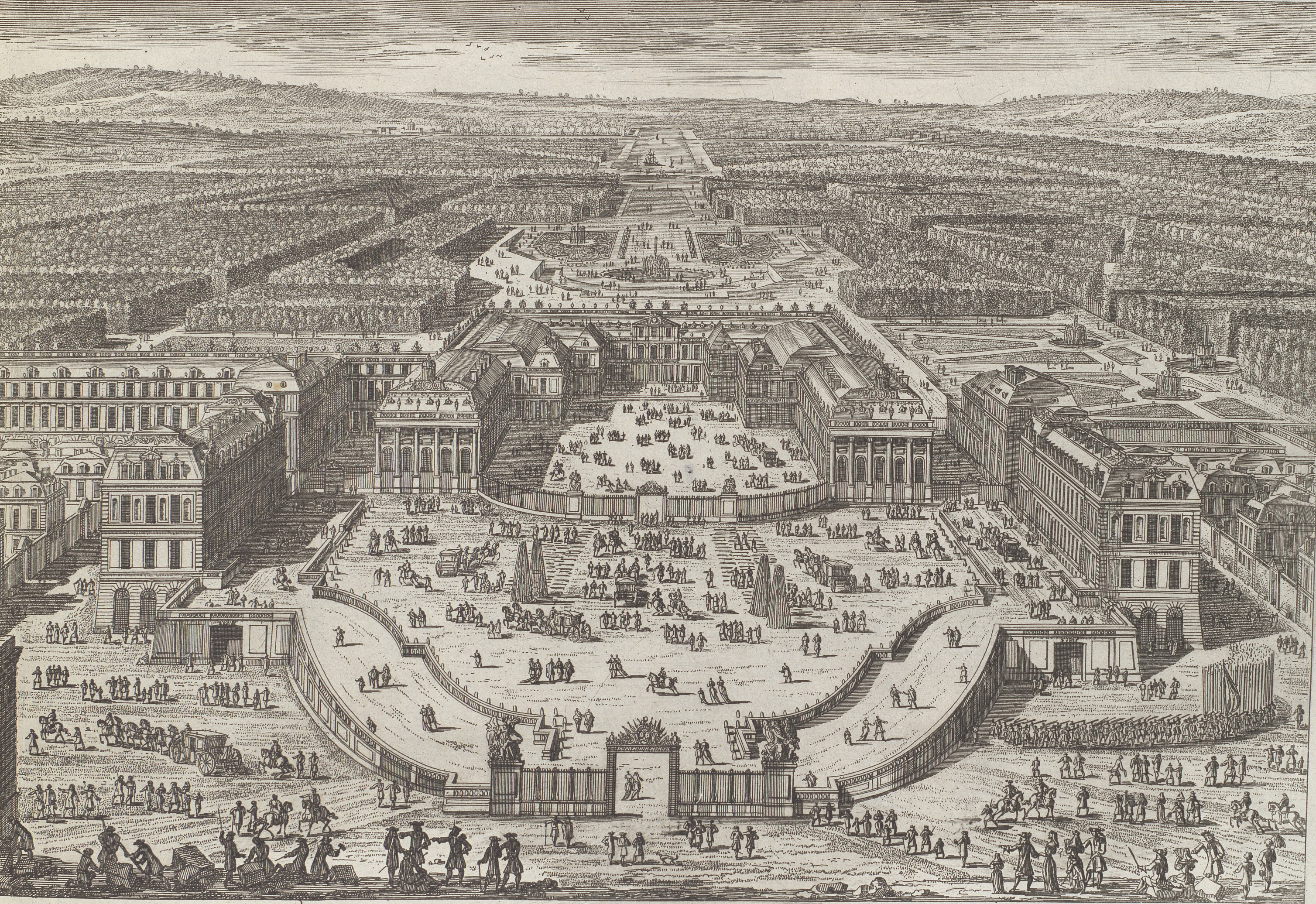 File:General view of Versailles in circa 1682 by Adam Perelle.png