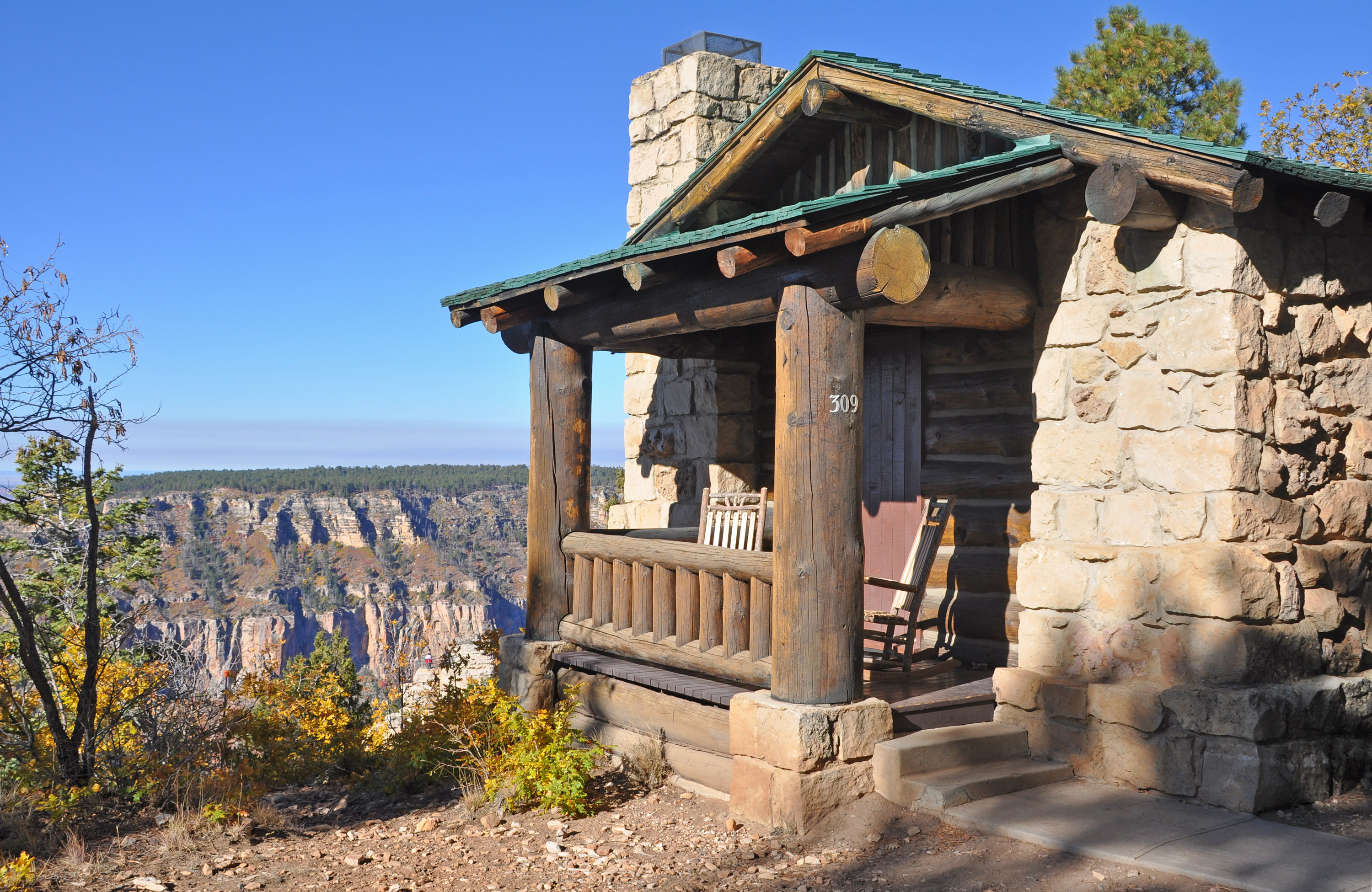 frontier lodge in rim north photo grand stock canyon cabins