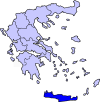 Location of Crete Periphery in Greece