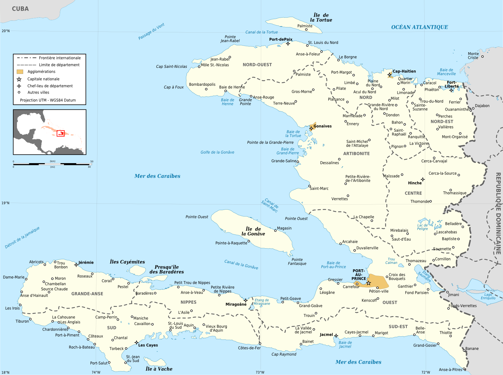 File:Haiti administrative map-fr.png - Wikimedia Commons