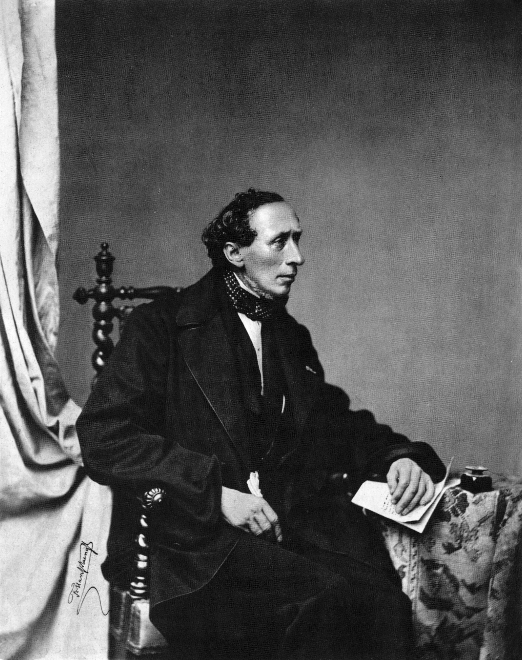 Retrato de Hans Cristian Andersen de julio de 1860.