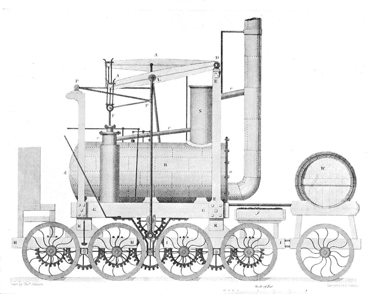 File:Hedley's 0-8-0 Wylam locomotive, 1813 (British Railway