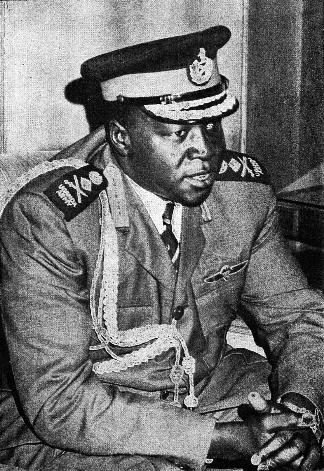 Depiction of Idi Amin
