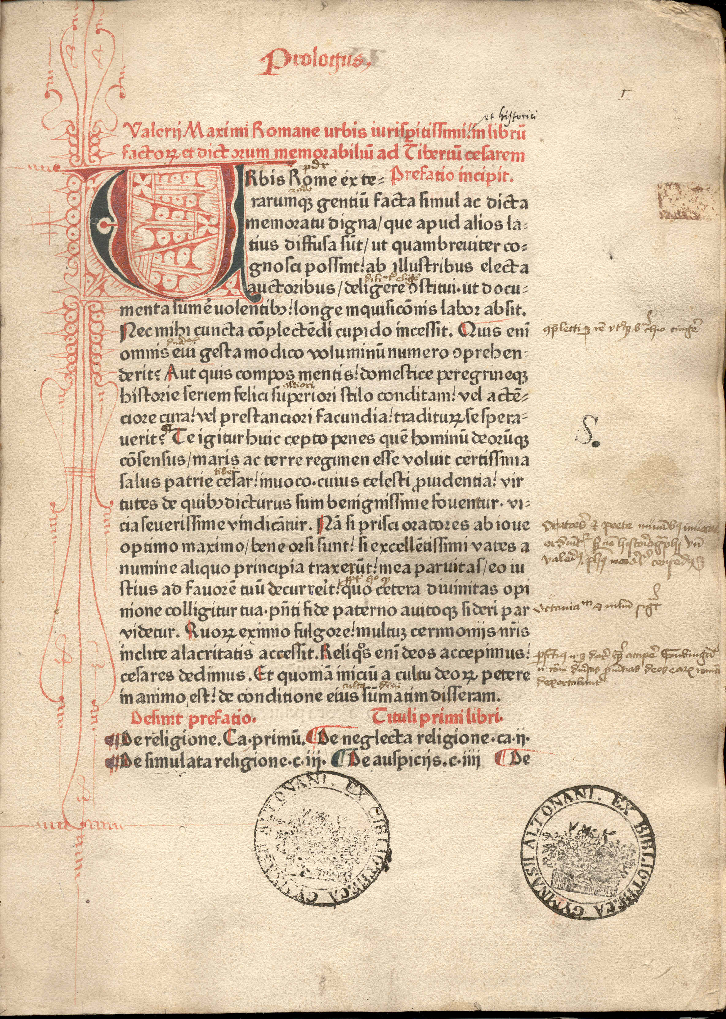 Page from an [[incunable