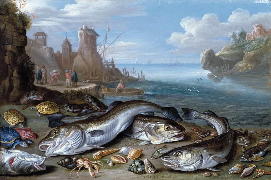 Jan_van_Kessel_(I)_-_Harbour_Scene_with_Fish_-_WGA12137.jpg