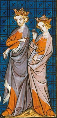 14th century depiction of Henry Fitzempress and Eleanor of Aquitaine Jindra Eleonora.jpg