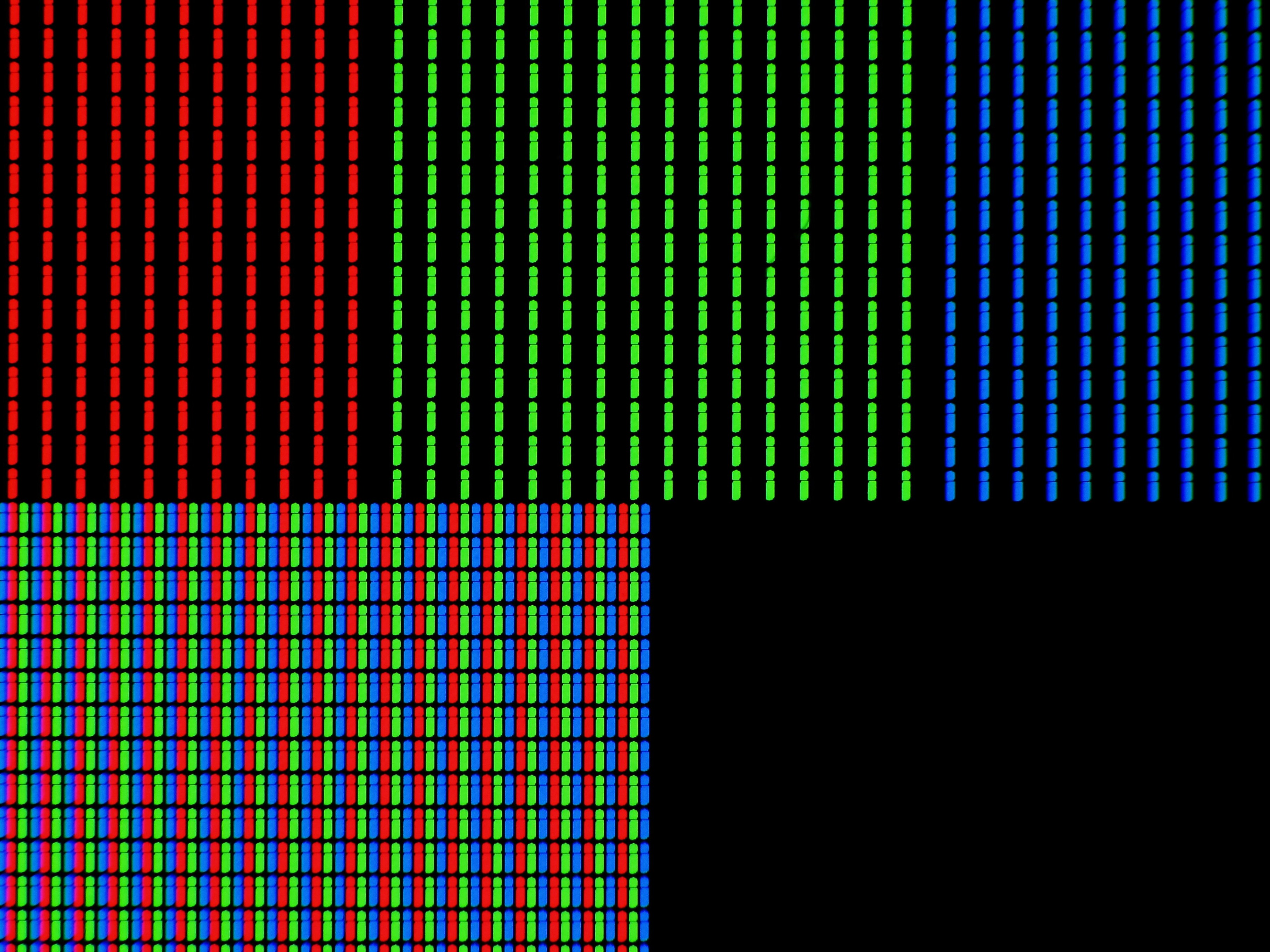powiększenie pikseli na wyświetlaczu LCD