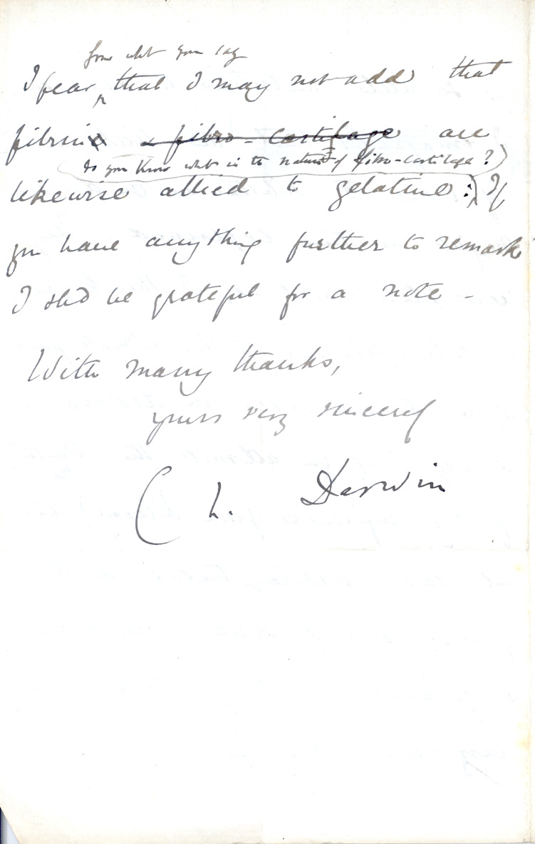 letter to darwin To celebrate the 158th anniversary of the publication of origin of species on 24 november, the full transcripts and footnotes of over 500 letters from and to charles darwin in 1873 are now.
