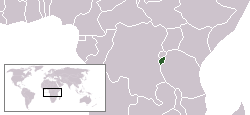 Location of Burundi