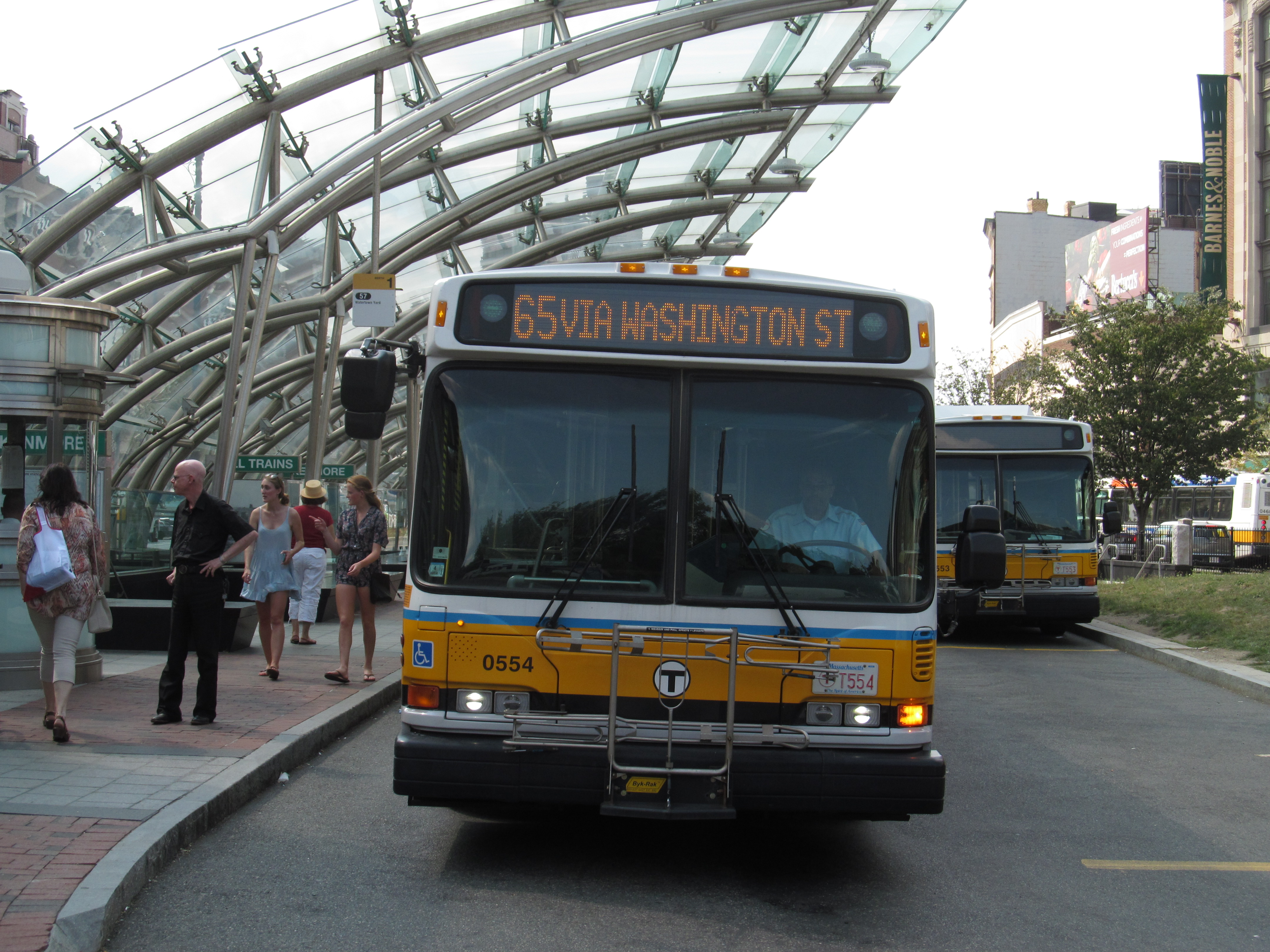 File Mbta Route 65 Bus At Kenmore Station August 2015 Jpg