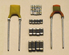 500 pf feedthru capacitor array of 10 Set of 10