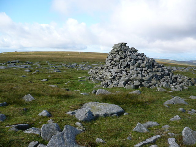 Mickle Fell Cairn - the highest point in County Durham - geograph.org.uk - 934137