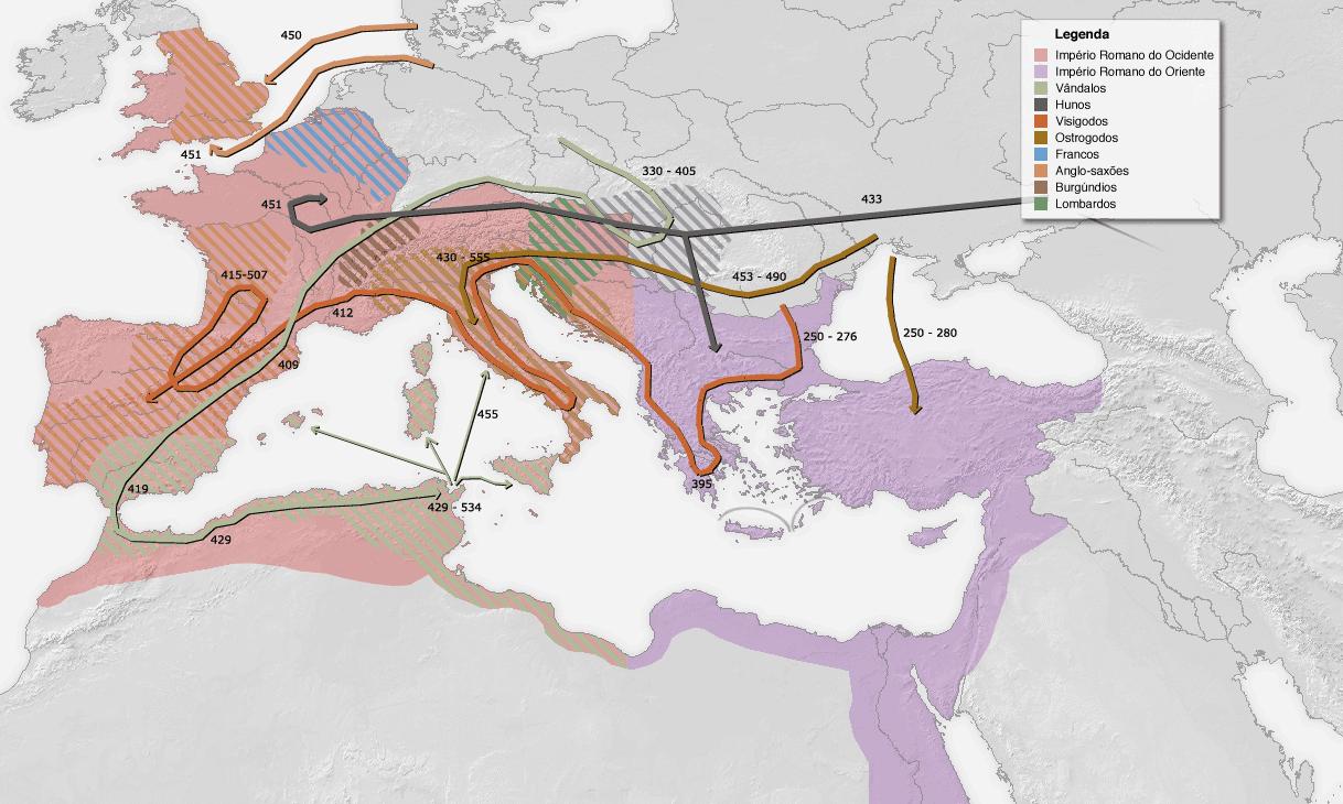 Migrações dos povos bárbaros – Wikipédia, a enciclopédia livre