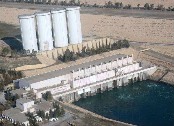 Mosul Dam hydro power plant Iraq
