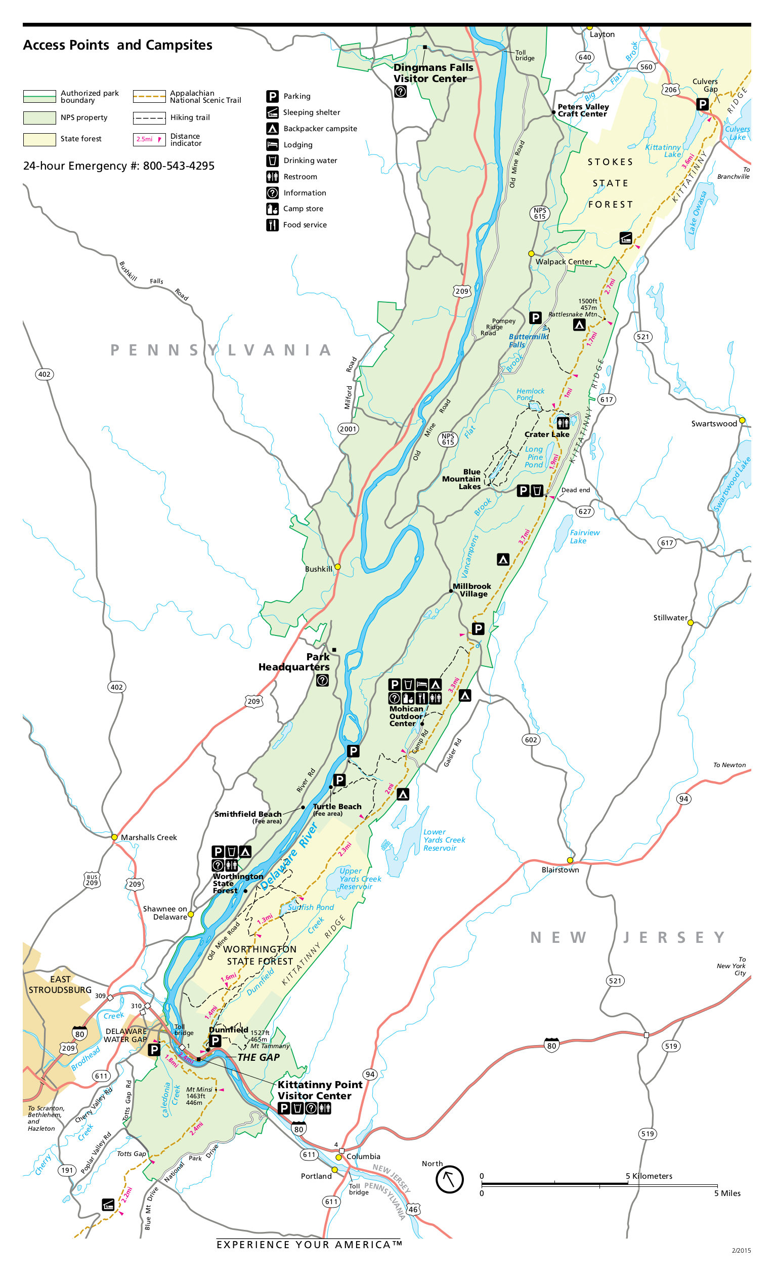 delaware water gap national recreation area map File Nps Delaware Water Gap Appalacian Trail Map Jpg Wikimedia delaware water gap national recreation area map