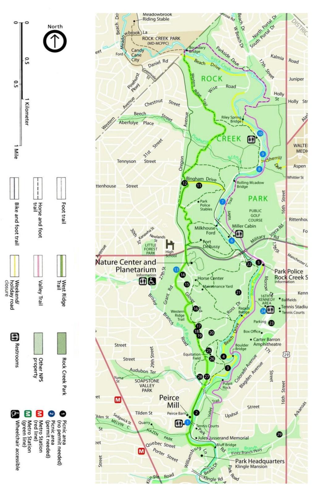 FileNPS Rockcreekbicyclemapjpg Wikimedia Commons - Boulder bike path map