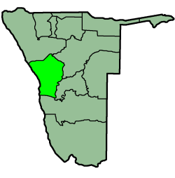 Location of the Erongo Region in نمیبیا