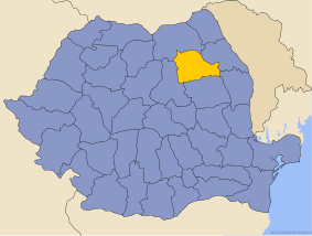 Administrative map of Руминия with Неамтс county highlighted