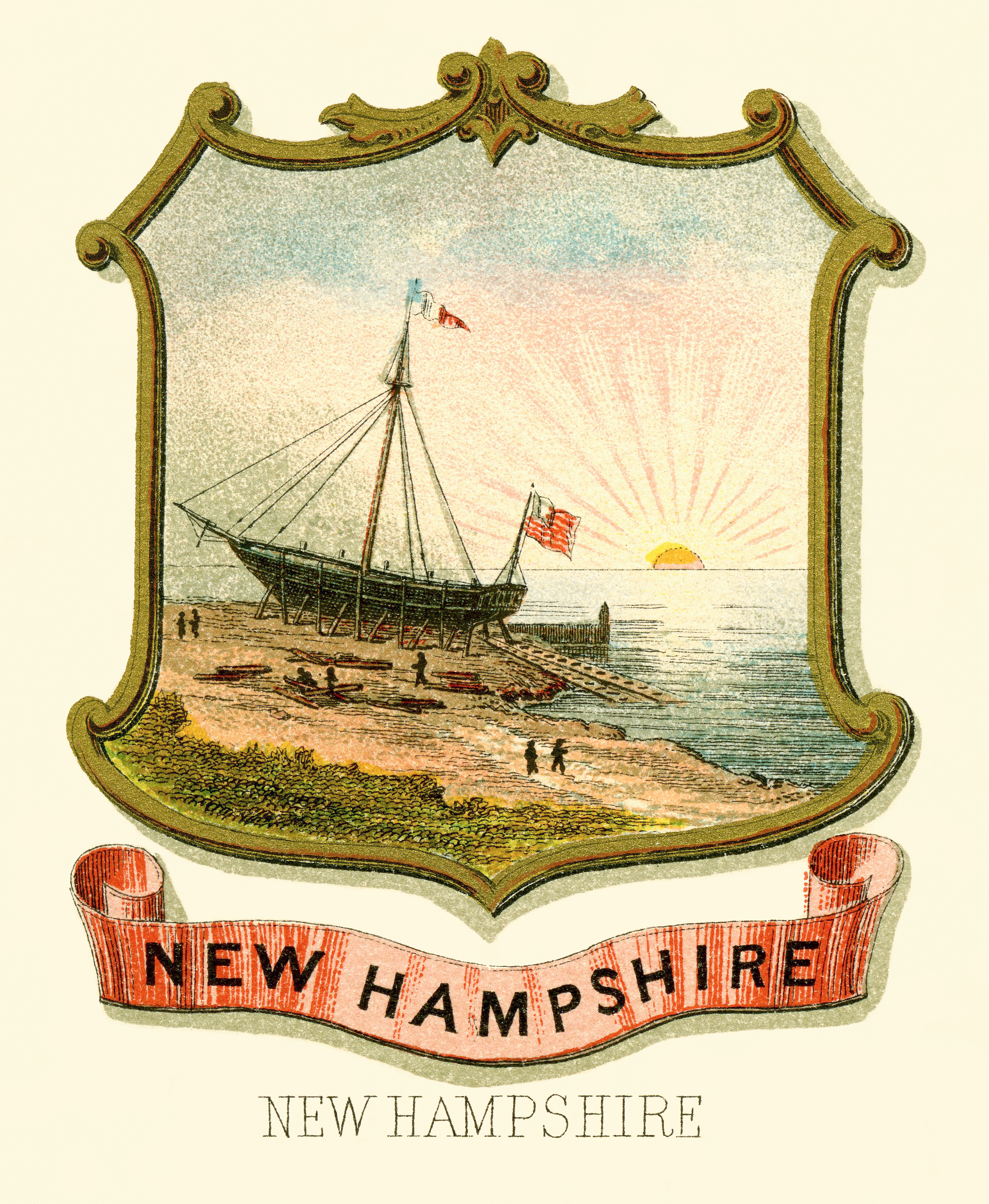 Flag and seal of New Hampshire - Wikiwand