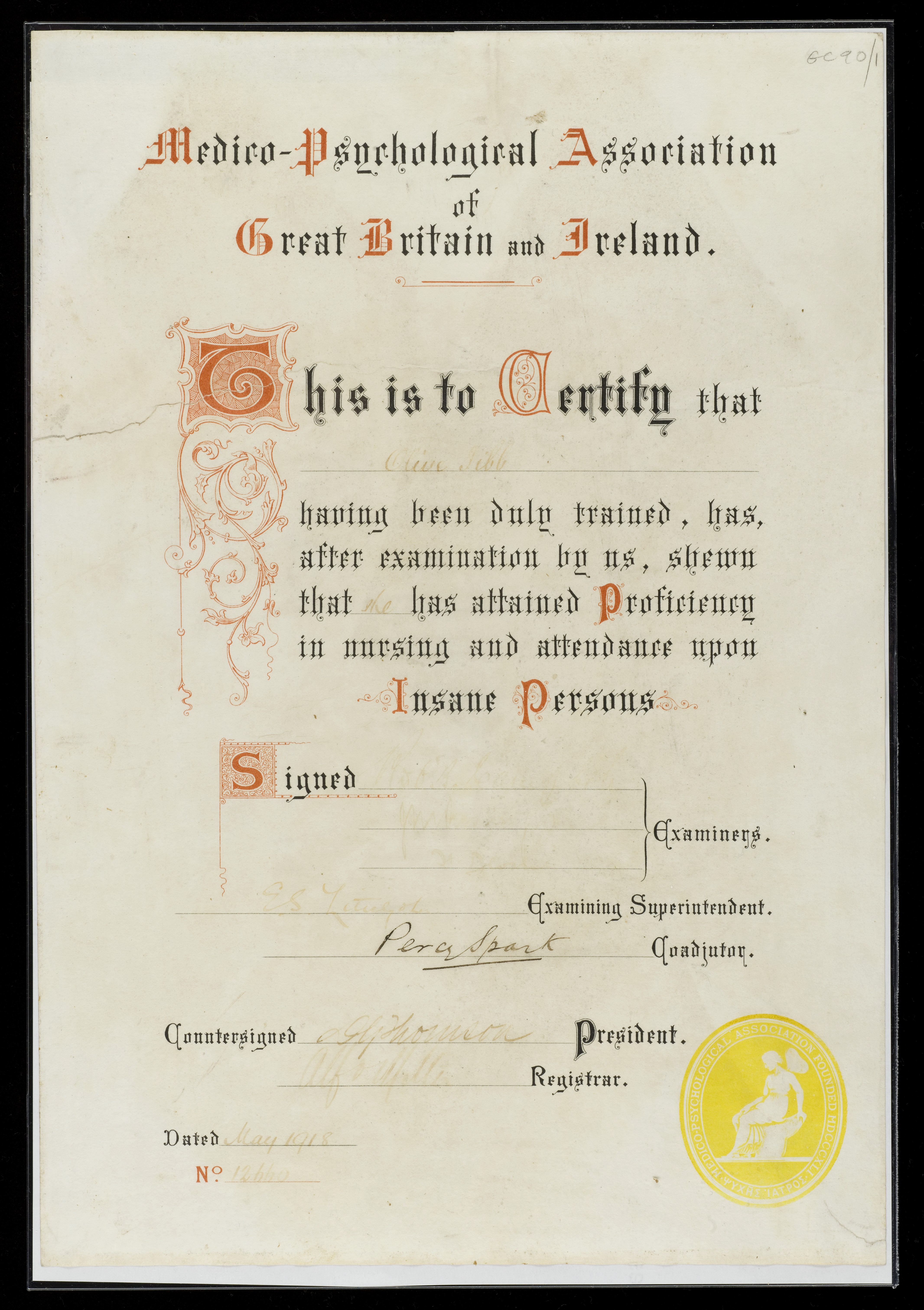 Filenursing Certificate Wellcome L0049346g Wikimedia Commons