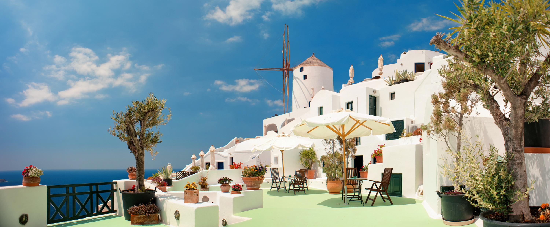Greek Island City