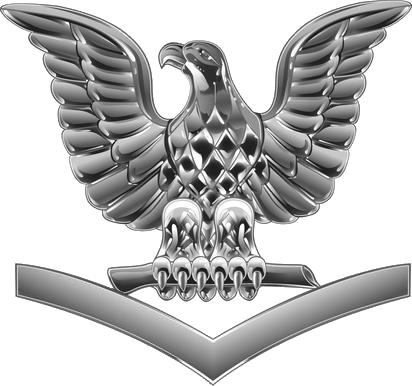 U.S. Navy petty officer third class collar insignia