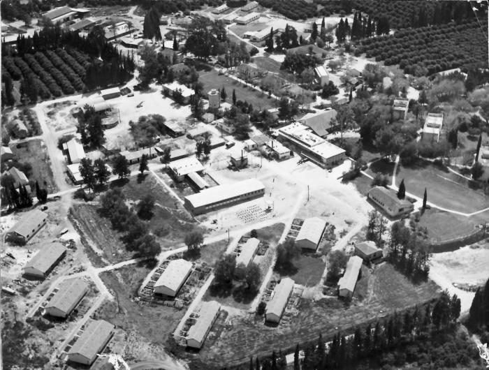 גן-שמואל מהאויר 1955-8