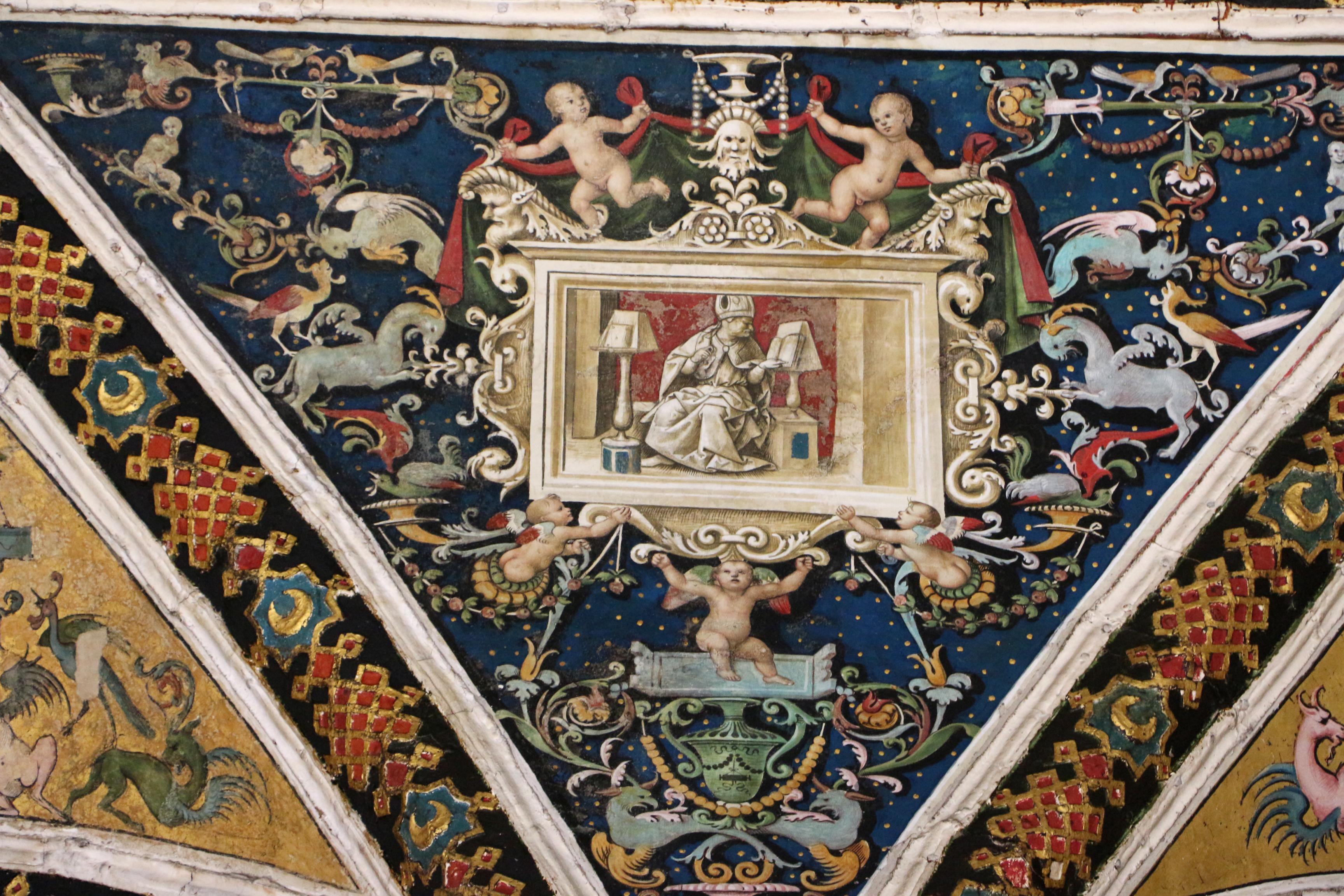 File:Pinturicchio e aiuti (girolamo del pacchia), grottesche nella volta  della cappella
