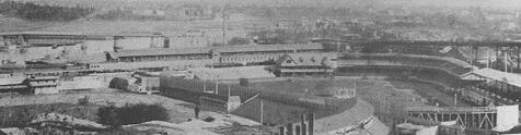 Polo Grounds (III) (left) and Manhattan Field (aka Polo Grounds II) (right) c.1900