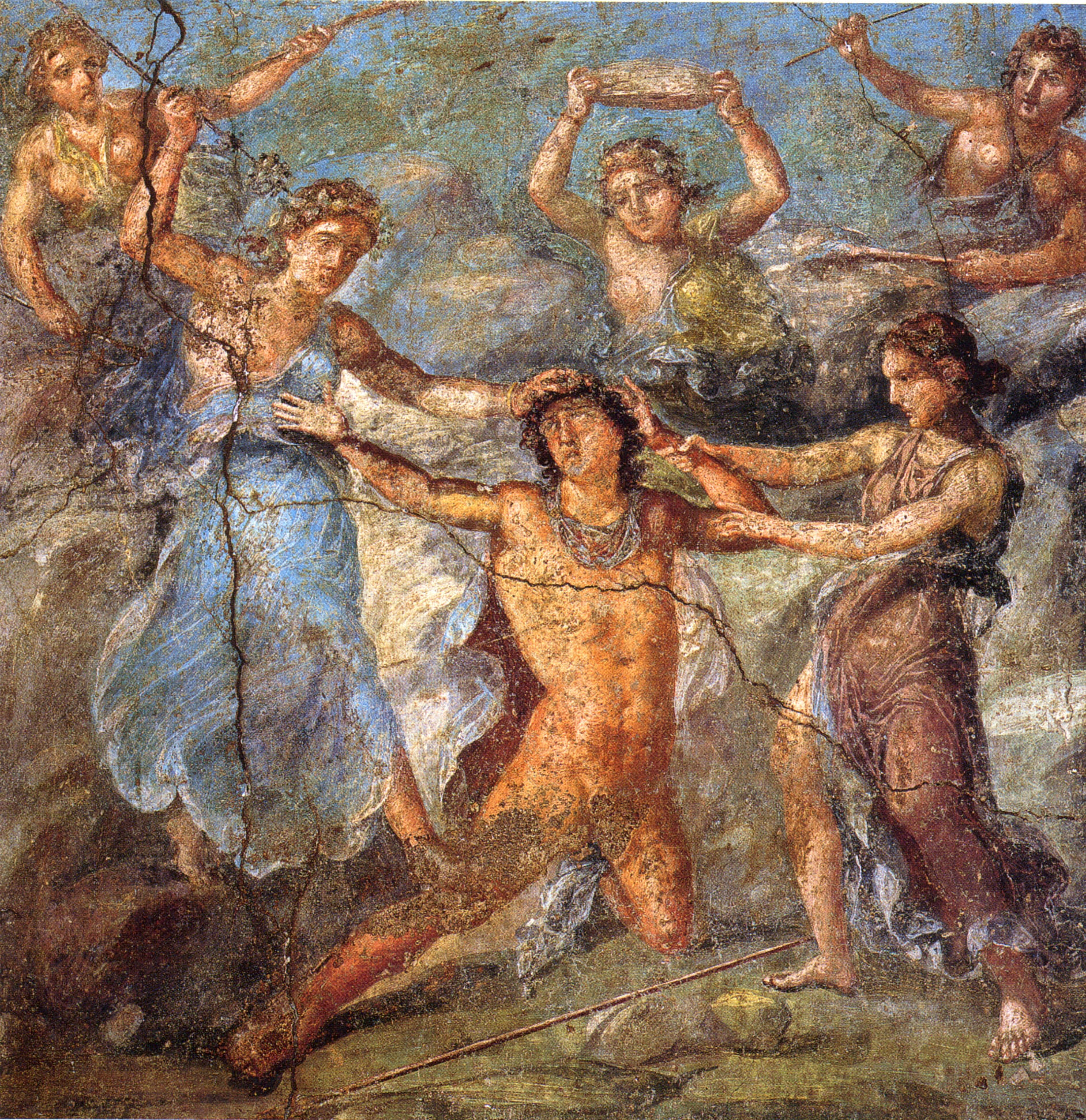 a comparison of the characters of pentheus and dionysus in bacchae A cast of characters followers of dionysus, the bacchae are ordinary women oppressed by ancient greece he wisely urges pentheus to accept dionysus.
