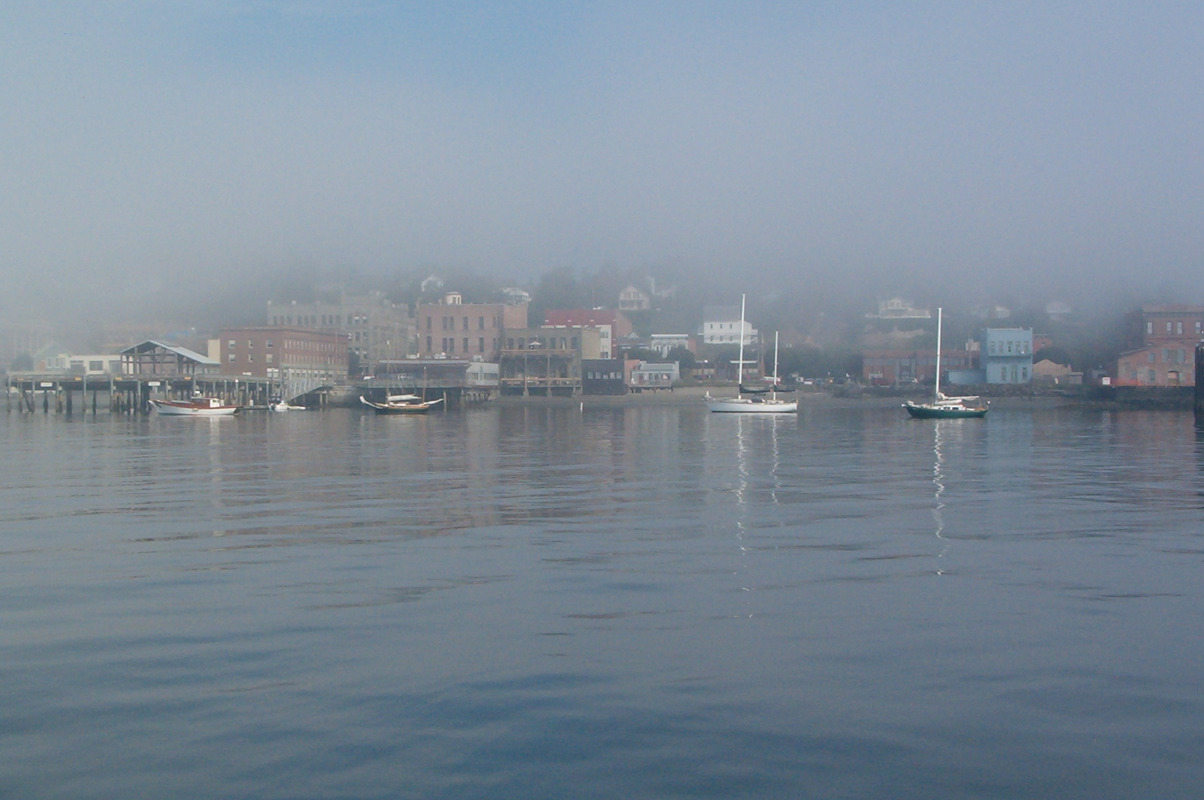 File Port Townsend Washington Fog Waterfront Jpeg