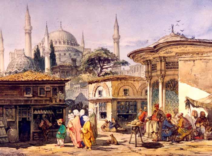 File:Preziosi - Stradă din Constantinopol, 1868.jpg ...