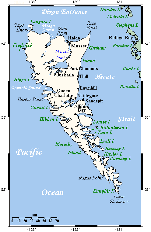 Queen Charlotte Islands Map