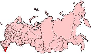 Республика Дагестан на карте России
