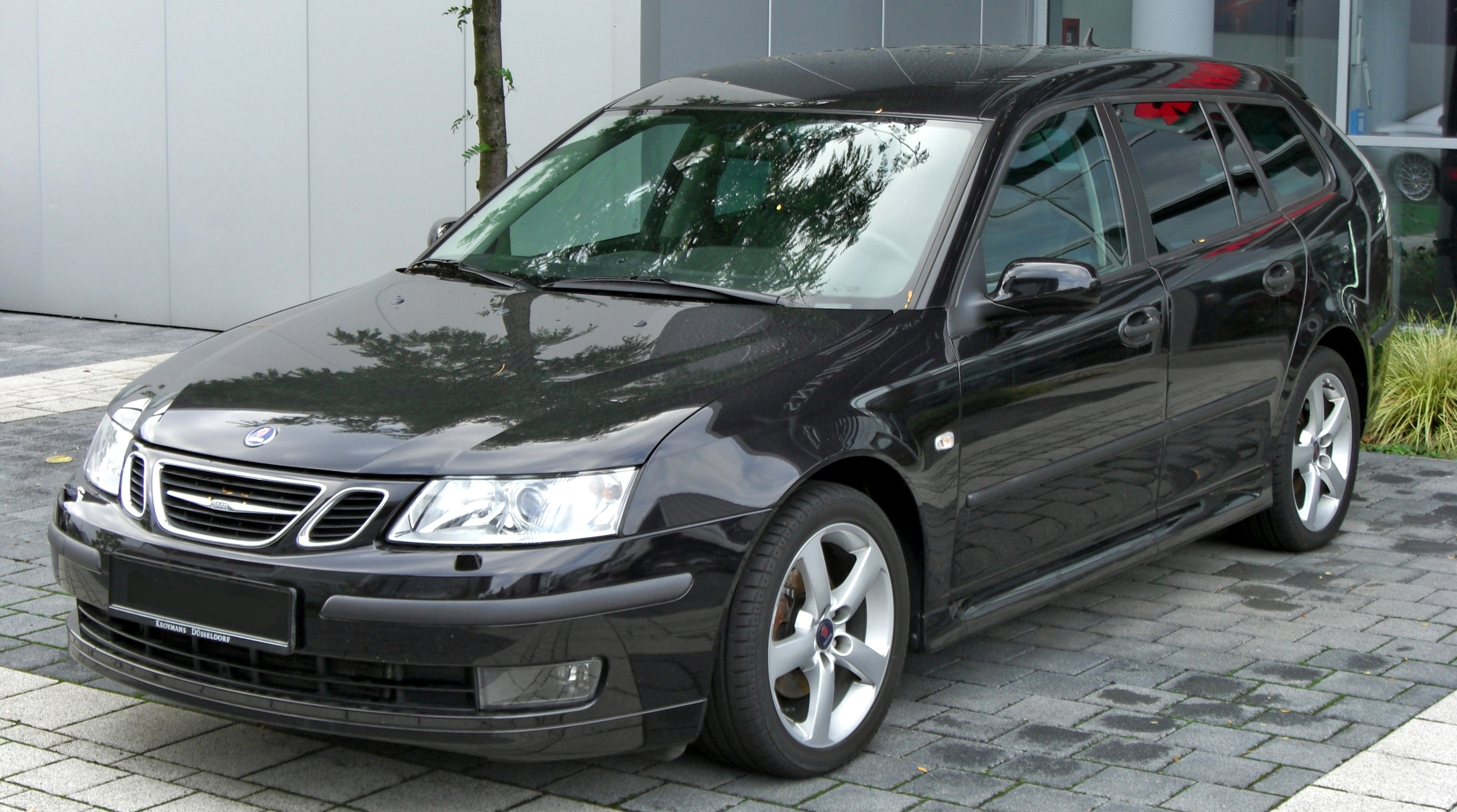file saab 9 3 sportcombi front jpg wikimedia commons. Black Bedroom Furniture Sets. Home Design Ideas