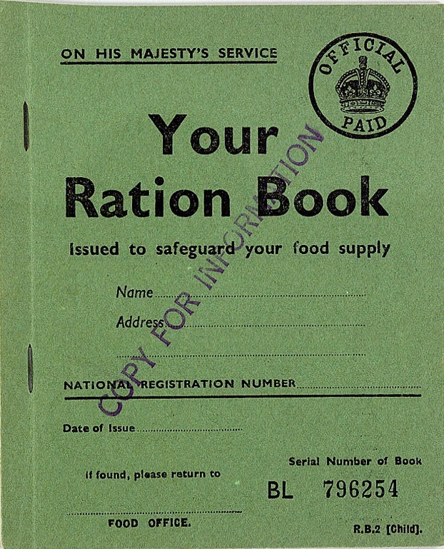 picture relating to Ration Book Ww2 Printable referred to as History:Pattern United kingdom Childs Ration Guide WW2.jpg - Wikimedia Commons