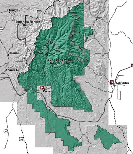 Santa Fe National Forest Hiking Map Images