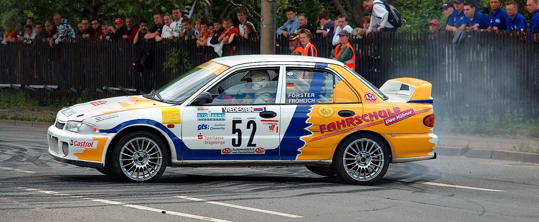 Mitsubishi Race Car Girl
