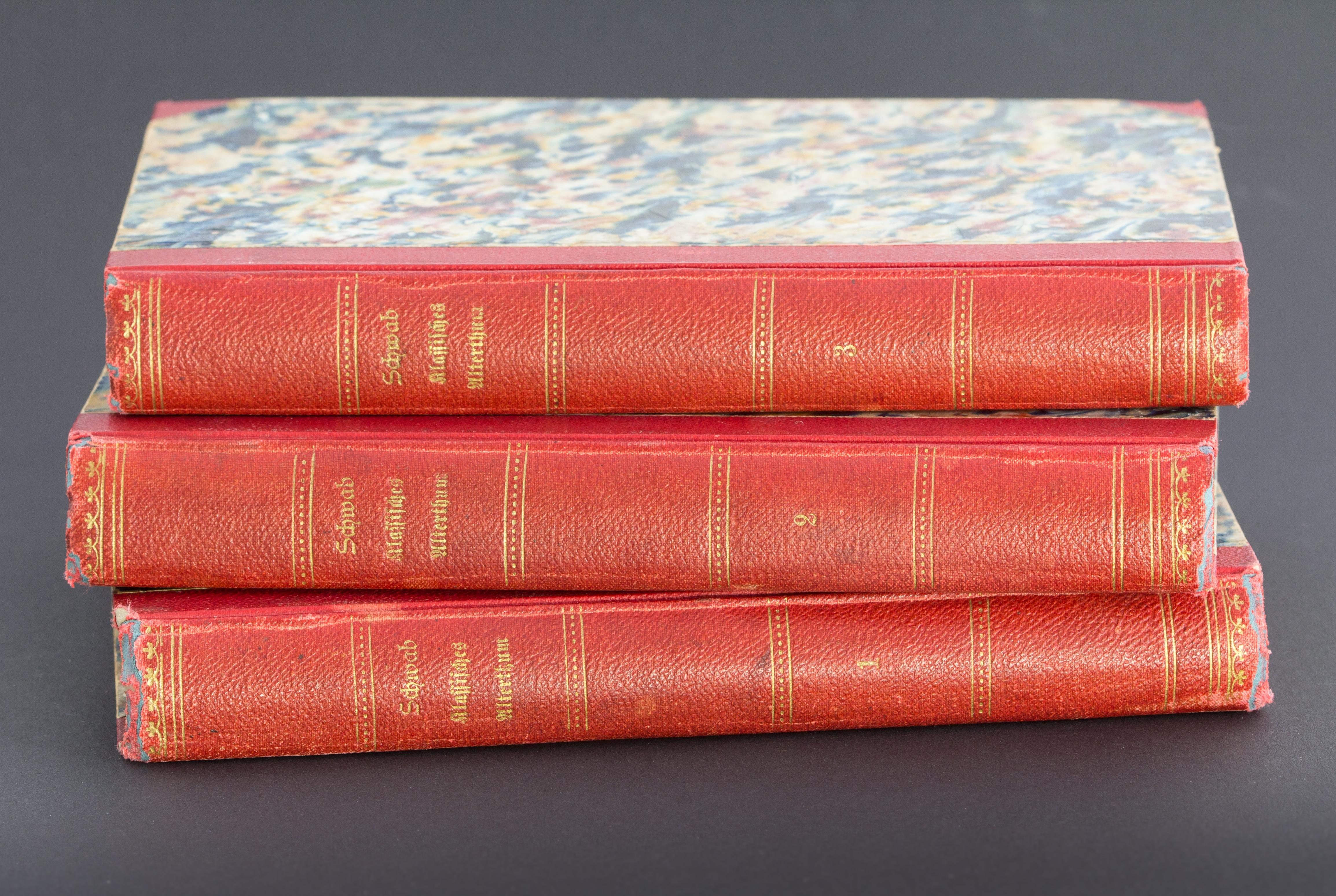 Schwabs Sagen des klassischen Altertums, Erstausgabe Buchrücken-6347.jpg