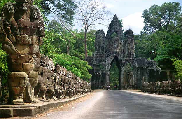 The temples were nice though. Entrance to Angkor Thom. Source: Wikimedia commons