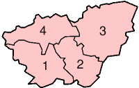 Location of South Yorkshire